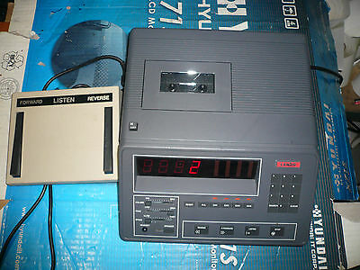 LANIER - LCT-5 Dictation Machine Cassette Tape Transcriber & Foot Pedal