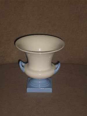 Rare Vintage Lenox Ivory Vase With Blue Handles And Base Old Blue