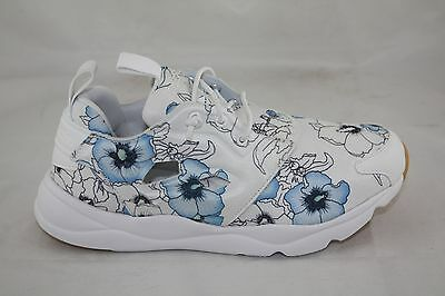 cd62178a5244 WMNS Reebok BD1098 Furylite FG Fashion Sneaker FLORAL BLOOM WHITE BLACK GUM