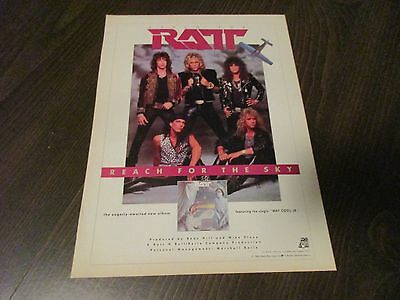 Ratt - Reach For The Sky - Way Cool Jr  -  1980's Magazine Print Ad