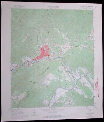Clifton Forge Virginia Jackson River James River vintage 1971 USGS Topo chart