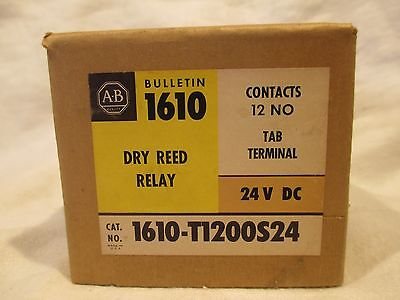 New In Box Allen Bradley Dry Reed Relay 12 Contacts NO # 1610-T1200S24