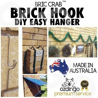 BRICK WALL HOOK CLIP HANGER Bracket Screw Hanging Decor Painting Frame Plant