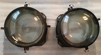2 Projection Lens for Unknown Product, 4.5 inch base, collector steampunk PARTS