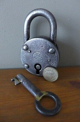 Vintage Padlock with one key, working order collector hobby