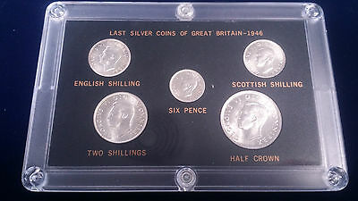 1946 Last Silver Coins of Great Britain Unciculated BU condition!