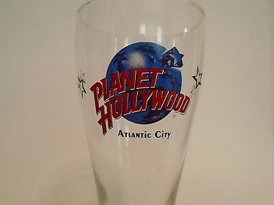 Planet Hollywood Atlantic City Pilsner Beer Glass - 8.5""
