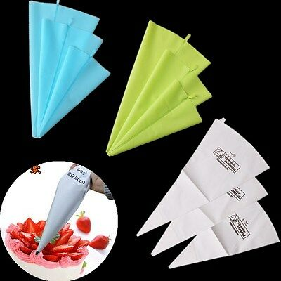 Silicone Cotton Reusable Icing Piping Cream Pastry Bag DIY Cake Decorating Tool
