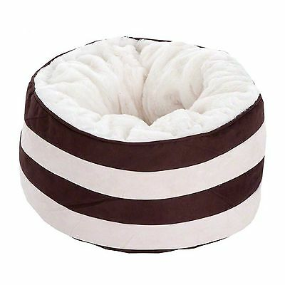 Pet Snuggle Bed Sleeping Dogs Cats High Border Soft Cushion Cotton Padding Plush
