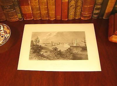 Fine Original 1872 Antique DETROIT Michigan MI Engraved Panoramic Map View Print