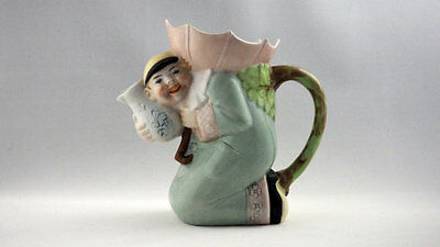 Schafer and Vater Chinese Man With Umbrella Creamer Vintage Jug Antique