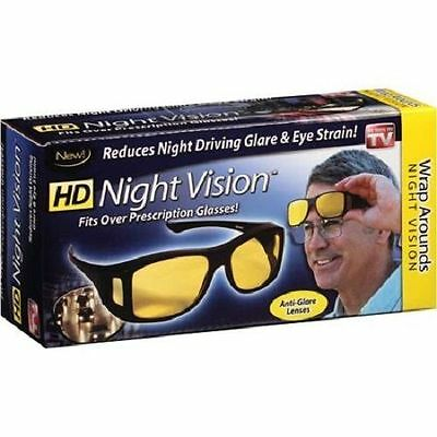 Hd Night Vision Wrap Arounds - Fit Over Prescription Glasses - As Seen On Tv