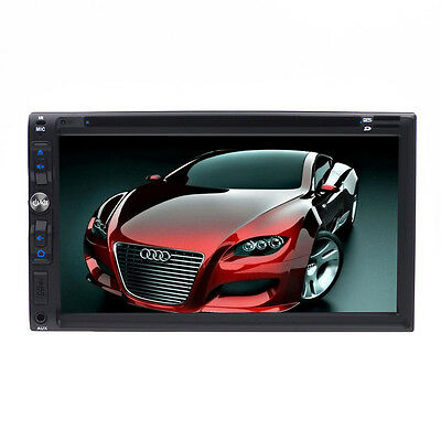 "Samsung Core Double 2 Din 7"" Car Stereo Radio DVD Player Dash Bluetooth MP3 Mic"