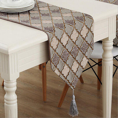 Cotton Linen Jacquard 1 X Table Runner Home Wedding Party New Banquet Decoration
