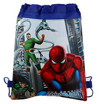Cool Spider-man Cartoon Bag Eco Printed Bag Drawstring Backpack School Bag