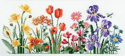 Floral Rainbow - Country Threads Cross Stitch Chart