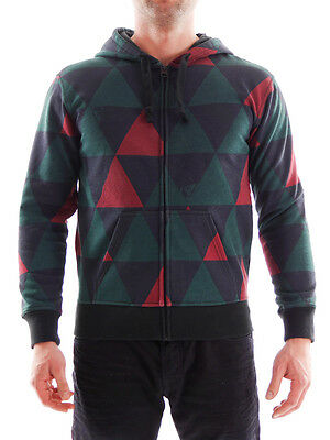 Quiksilver Hoody Jacket Size green-blue patterned Cuffs