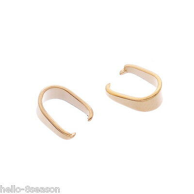 50PCs Stainless Steel Pinch Bail Clip Gold Plated Jewelry DIY