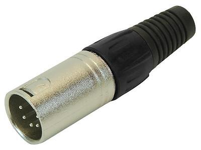 Heavy Duty PULSE 5 PIN XLR Male Cable End Plug 5 POLE for adding to Cabling