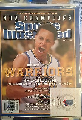 STEPHEN CURRY Golden State Warriors autograph signed Sports Illustrated Beckett