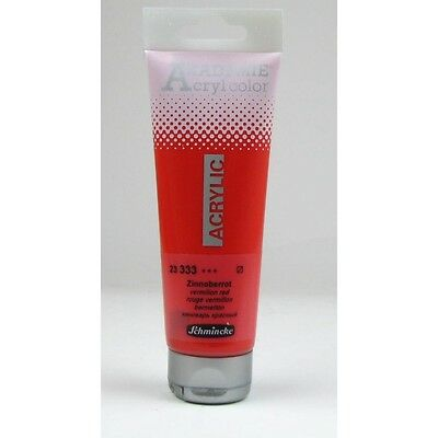 (4,55€/100ml) Schmincke 120ml AKADEMIE Acryl color Zinnoberrot Acryl  23 333 012