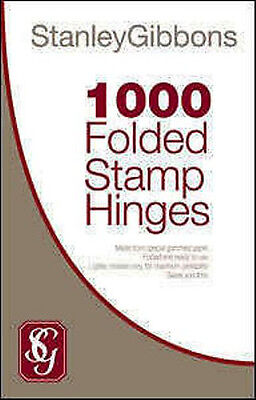 Stanley Gibbons 1000 Ready Folded Stamp Hinges Collectors - Acid Free Mounts