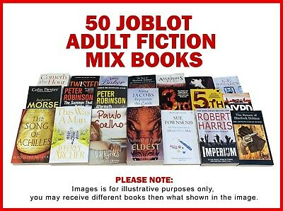 Joblot Wholesale of 50 New Fiction Books Collection Set Fiction, Crime, Teens