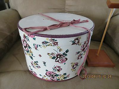 Vintage Hat-Box Floral Print from Arnold Constable, Fifth Avenue
