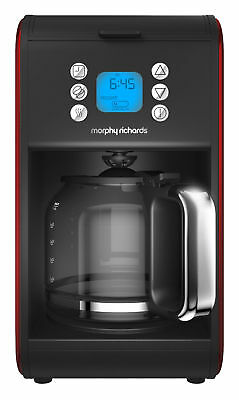 Morphy Richards Accents Pour Over Filter 1.8 L Coffee Machine Red/Black 162009