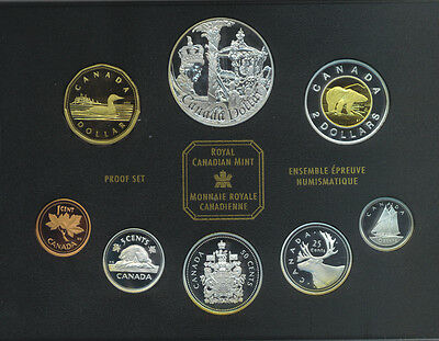2002 Canada Proof Set Canadian Coinage Golden Jubilee Special Edition Box COA
