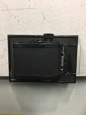 Graflex 23 Graphic 120 Roll Film Back Holder 4x5 With Plate