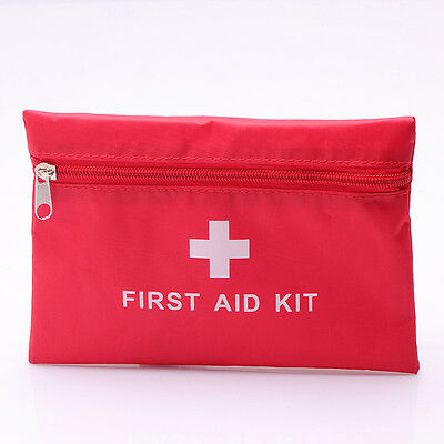 Empty First Aid Kit Bag- Safety Health Medicine Container Pouch Bandage Plaster