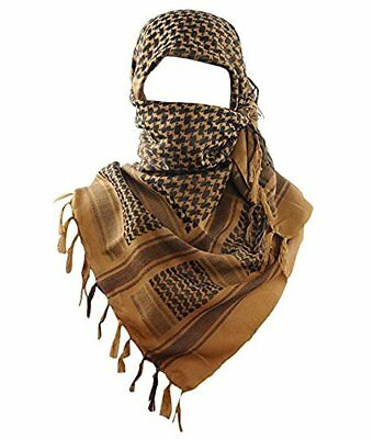 "Shemagh Tactical Desert Army Military Head Scarf 42""x42"" Normal Weight (Coyote)"