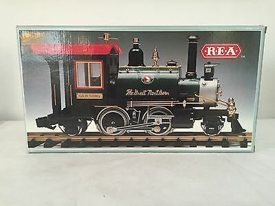 REA G Scale Great Northern Rodgers 2-4-2 Steam Locomotive Deluxe New in Box