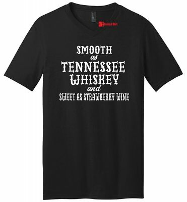 Smooth As Tennessee Whiskey Mens V-Neck T Shirt Funny Country Alcohol Party Tee
