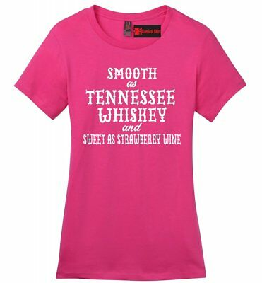 Smooth As Tennessee Whiskey Ladies T Shirt Funny Country Alcohol Party Tee Z4