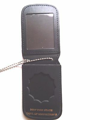 NYDOCCS Badge ID Holder Officer's Badge Neck Chain /  On Belt 4 Pocket design