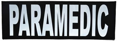 Reflective Paramedic - 4x12 Military/Morale/Police Patch Hook Backing