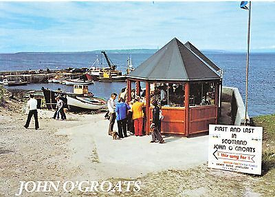 Scotland Postcard - John O'Groats - The First and Last in Scotland   SM130