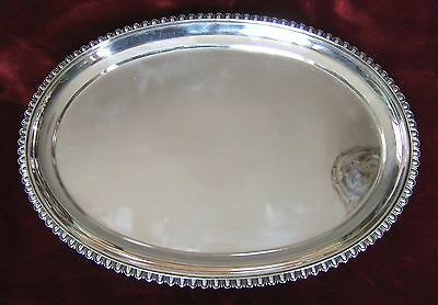 Antique Mauser MFG Co. New York  Solid Sterling Silver Tray  36 oz  1020g