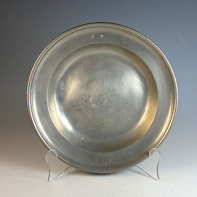 Antique James Stanton London Hallmarked, English Pewter Plate