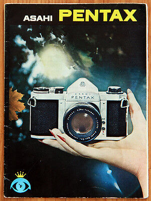Vintage 1961 Asahi Pentax sales brochure for S-1, S-3 screwmount camera systems
