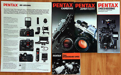 Vintage Asahi Pentax Super Program pamphlet + brochure for LX, ME-F, Auto 110