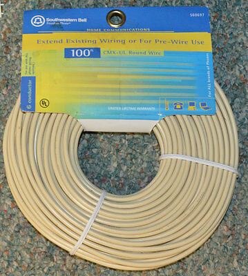 NEW  24 Gauge 6 Wire Telephone Cable Southwestern Bell 100 FEET S60697