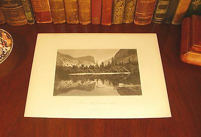 Original 1872 Antique YOSEMITE VALLEY California Engraved Panoramic Map Print