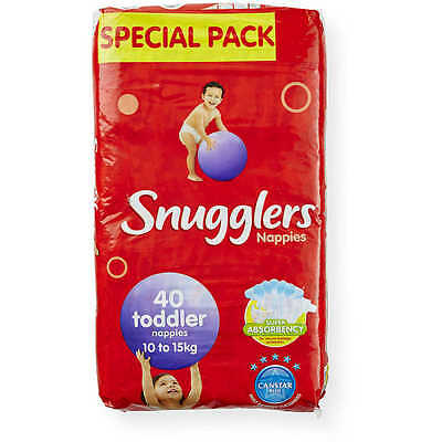 Snugglers Nappies Toddler 10 - 15KG 4 x 40's (160) Snugglers