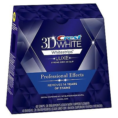 Crest 3D Whitestrips Luxe Professional Effects 40 Strips 20 Pouches (Sealed Box)