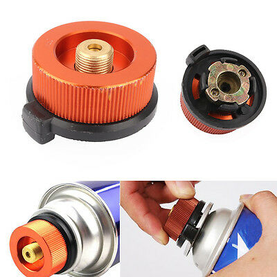 Camping Hiking Conversion Head Gas Bottle Adaptor Camp Stove Burner Connector TP