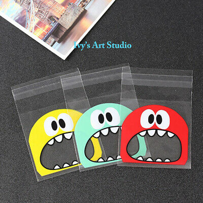 30 x Monster Lollie Bags treat lolly favours cello party self-adhesive bags