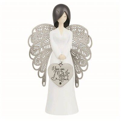 **NEW** YOU ARE AN ANGEL 155mm Moon and Back ..FIGURINE Gift Boxed!